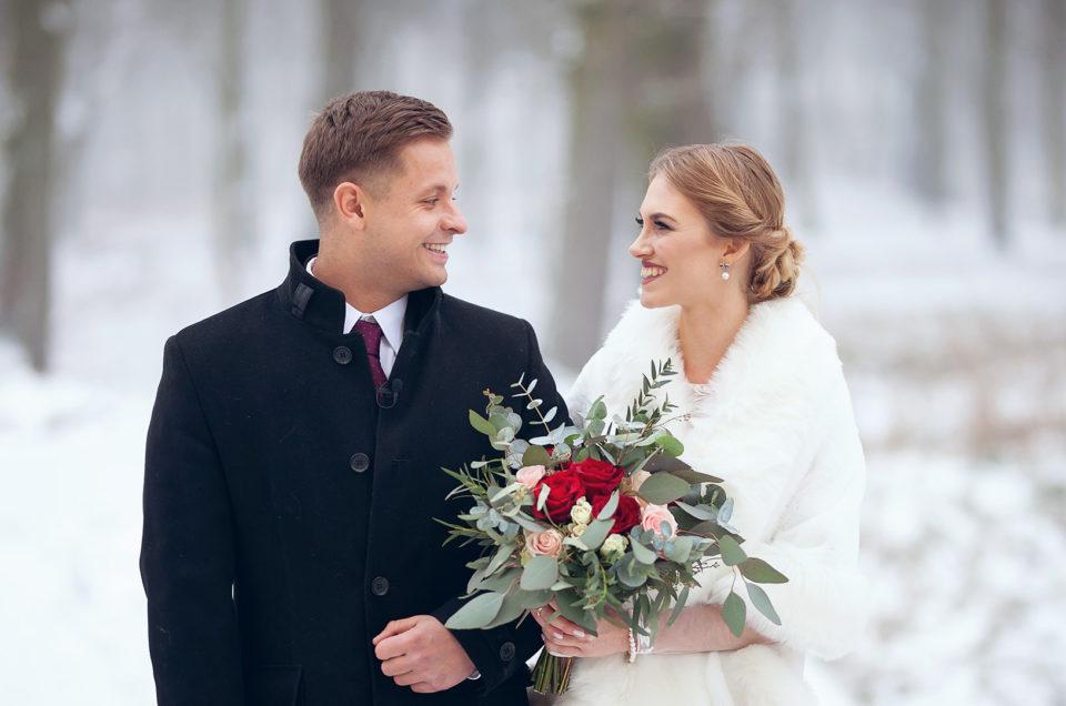 Ślub w zimie | Małgorzata & Bartosz | Ostoja Chobienice